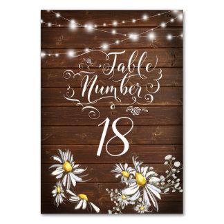 Country Wedding Barnwood Daisies BarefootBride™ Card