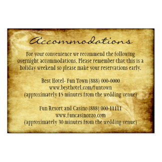Country Wedding Rustic Insert Accommodation Cards Pack Of Chubby Business Cards