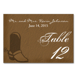 Country Wedding Table Cards