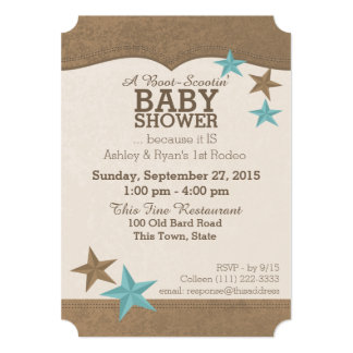 Country Western Baby Shower 13 Cm X 18 Cm Invitation Card