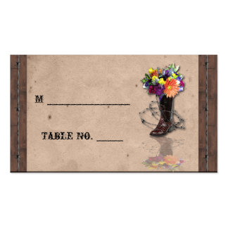 Country Western Barbed Wire Wedding Place Cards Business Cards