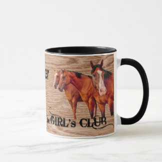 Country Western Barn Wood Theme for Cowgirls Mug
