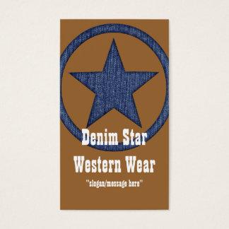 Country Western Business Card :: Denim Star D2