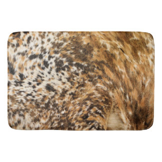 Country Western Chic Swirl Cow Hide Prints Bath Mat
