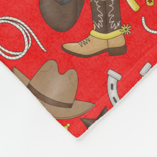 Country Western Cowboy Fleece blanket