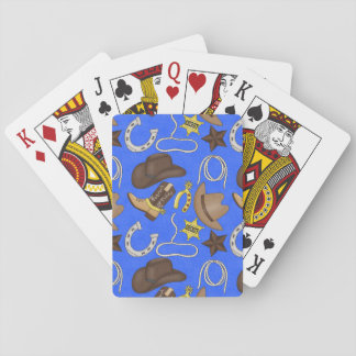 Country Western cowboy pattern playing cards