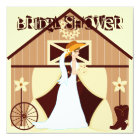 Country Western Cowgirl Bridal Shower Invitations
