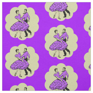 Country Western Dance Couple Square Dance ANY COLO Fabric