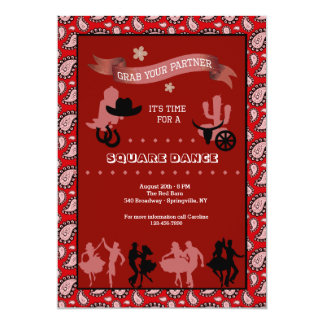 Country Western Dancers Invitation