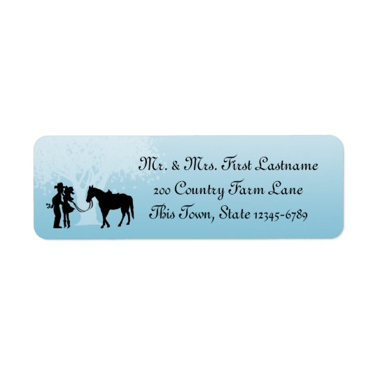 Country Western Fairy Tale Return Address Label