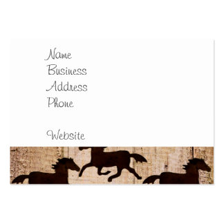 Country Western Horses on Barn Wood Cowboy Gifts Business Card