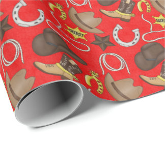 Country Western pattern wrapping paper