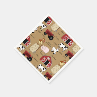 Country Western Pttern party paper napkins