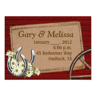 Country Western Wedding Invitation Template