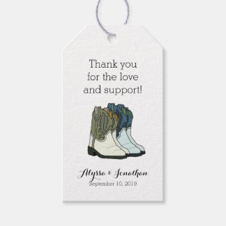 Country Western Wild West Wedding Gift Tags
