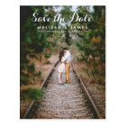 Country Whimsical Wedding Photo Save The Date Postcard