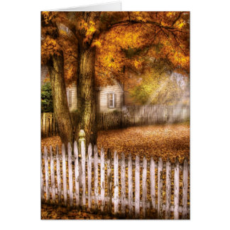 Country - White Picket Fence Greeting Card