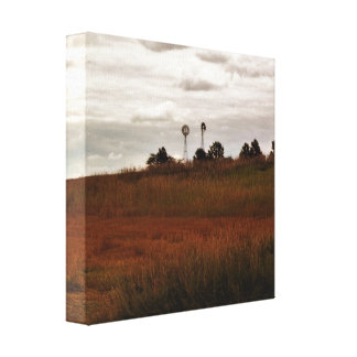 Country Windmill Canvas Print