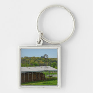 Country Windmill Key Ring