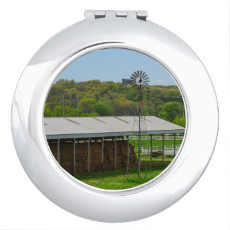 Country Windmill Travel Mirror