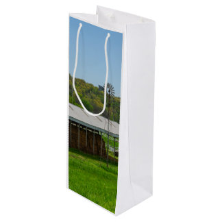 Country Windmill Wine Gift Bag