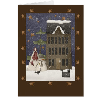 Country Winter Scene Card