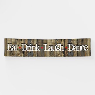 Country Wood Lights Eat Drink Laugh Dance Hearts