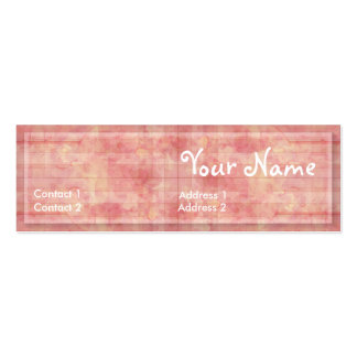 CountryPink Profile Card Pack Of Skinny Business Cards