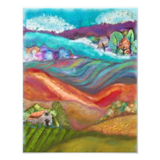 Countryside Collage Artwork Photo Art