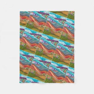 Countryside Collage Fleece Blanket