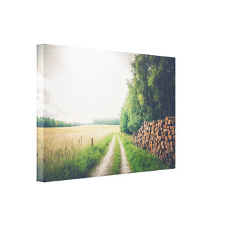 Countryside landscape in the summer canvas print