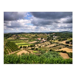 Countryside landscape of Porto de Mos, Portugal Postcard