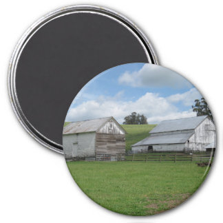 Countryside old white barn Magnet