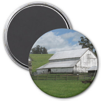 Countryside old white barn marble Magnet