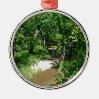 Countryside Stream Silver-Colored Round Decoration