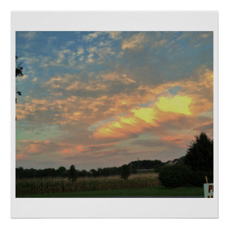 Countryside Sunset Photo Poster