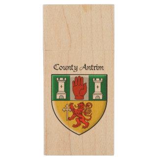 County Antrim USB Flash Drive Wood USB 2.0 Flash Drive