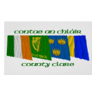 County Clare Flags Poster