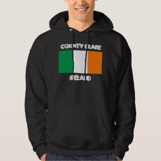 County Clare, Ireland with Irish flag Hoodie