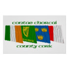 County Cork Flags Poster