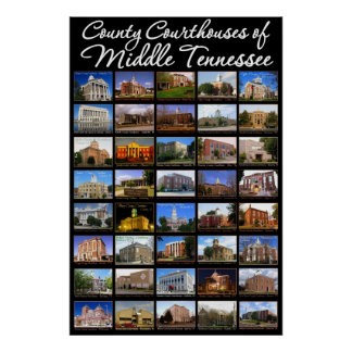 County Courthouses of Middle Tennessee Poster