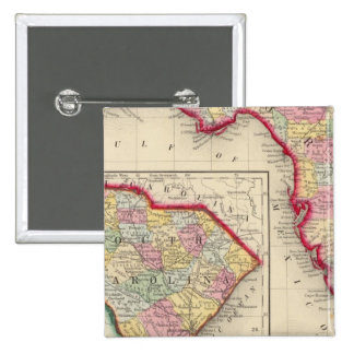 County Map Of Florida 15 Cm Square Badge