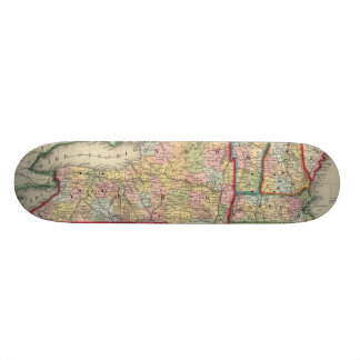 County Map Of The States Of New York Skate Boards