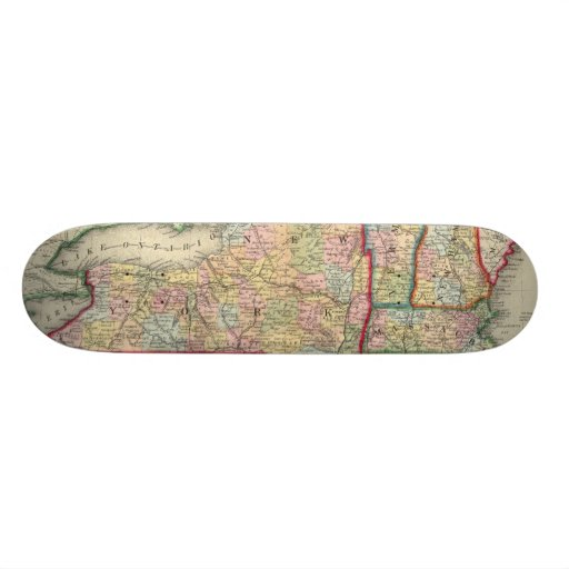 County Map Of The States Of New York Skate Decks