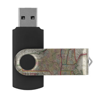 County Map Of The States Of New York Swivel USB 2.0 Flash Drive
