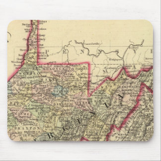 County map West Virginia Mousepads