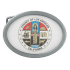 County of Los Angeles seal Oval Belt Buckle