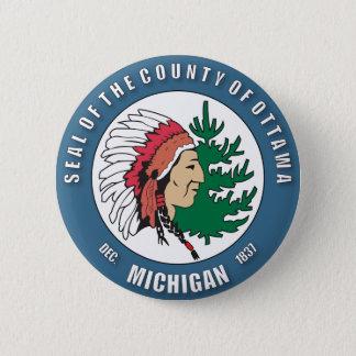 County of Ottawa seal 6 Cm Round Badge