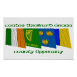 County Tipperary Flags Poster