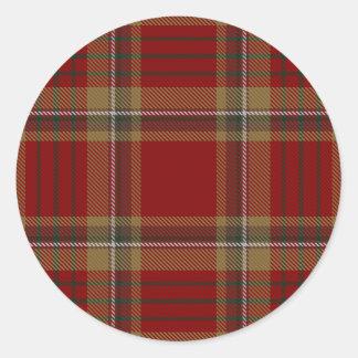 County Tyrone Irish Tartan Classic Round Sticker